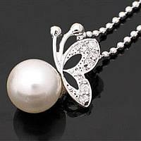 Ожерелье Бабочка на Жемчуге