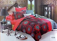 Сатиновое постельное белье евро ELWAY 4206