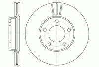 Тормозной диск передний 278 мм Mazda 3 (BK)( BL) 5 (CR19) (CV)