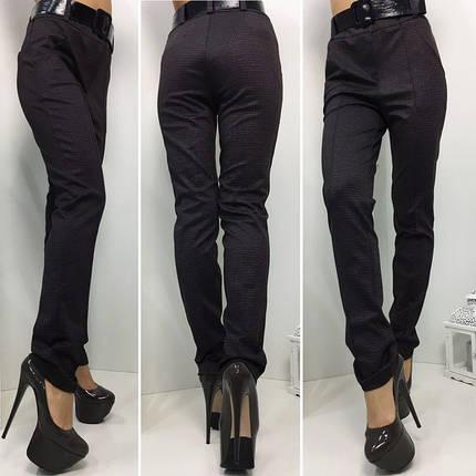 """Узкие женские брюки """"Bristol"""" с поясом и карманами, фото 2"""