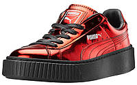 Puma Basket Platform Metallic Red 37