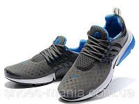 Мужские летние кроссовки Nike Air Presto grey-blue , фото 1