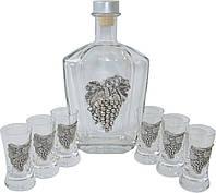 """Шикарный набор для водки """"Шнапса"""" 0.5 Л (Виноград)"""