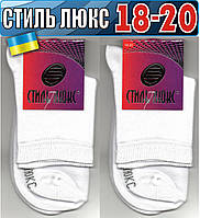Детские носки демисезонные СТИЛЬ ЛЮКС Украина белые 18-20р  НДД-08290