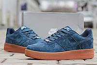 Стильны кроссовки Nike Air Force, мужские (темно-голубые)