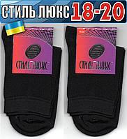 Детские носки демисезонные СТИЛЬ ЛЮКС Украина 18-20р  чёрные    НДД-293