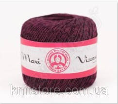 Пряжа Madame Tricote MAXI VISCOSE mini темно лиловый