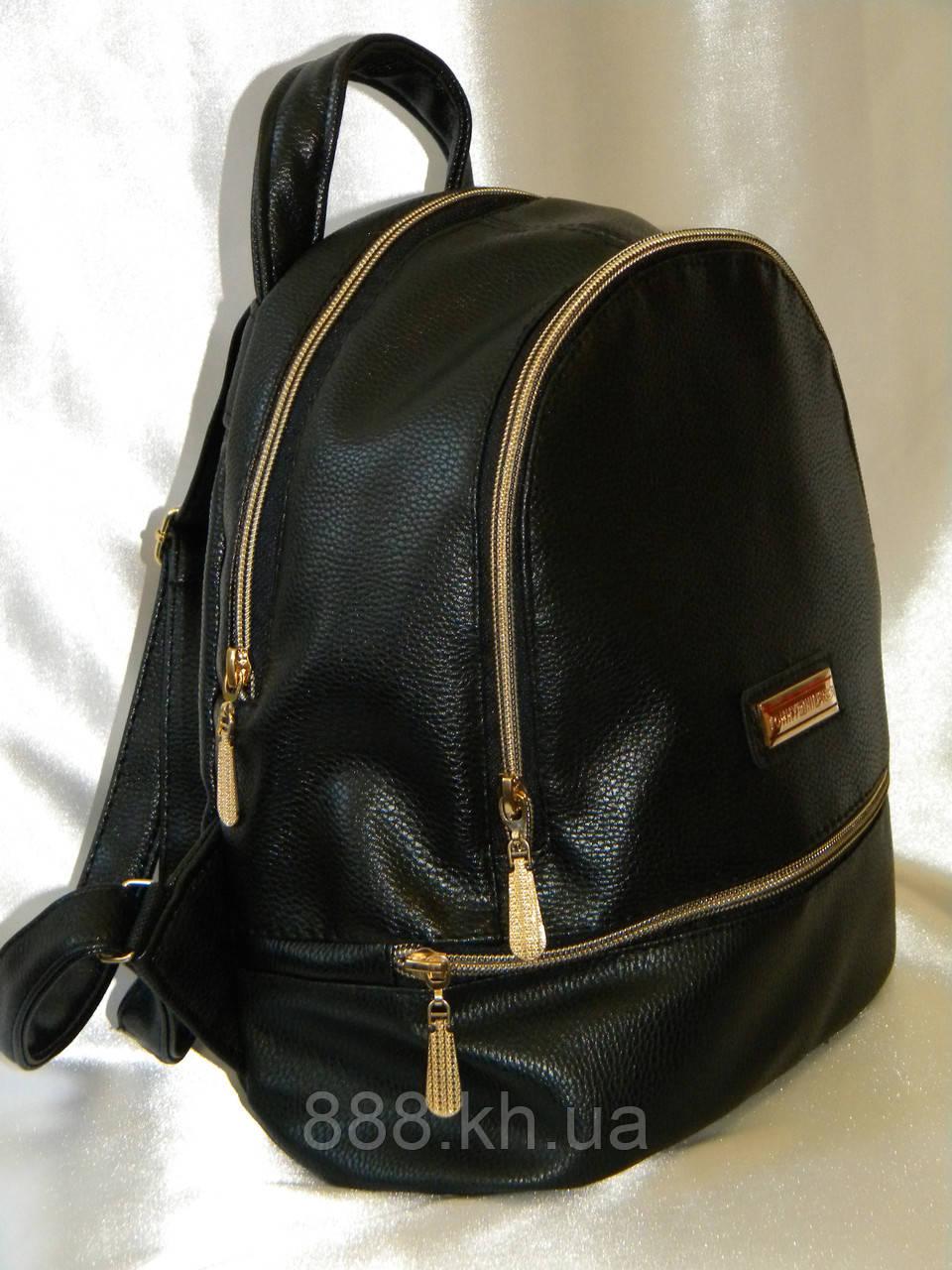 Женский рюкзак кожаный Tommy Hilfiger, женский городской рюкзак черный не оригинал
