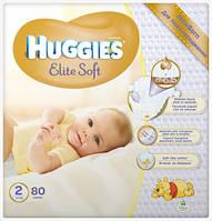 Подгузник Хаггис Elite Soft 2(4-7кг) 80 шт.