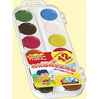 Акварельная краска в пластиковой коробке 12 цветов Гамма Нововолынск