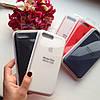 Оригинальный силиконовый красный чехол для iPhone 7 plus, фото 2