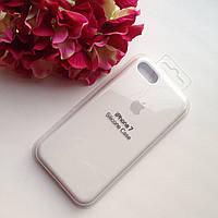 Оригинальный силиконовый белый чехол для iPhone 7