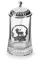 """Восхитительная кружка для пива 18см """"Крупный олень"""" Олово"""