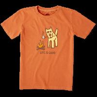Детская футболка для мальчиков Life Is Good Boys Marshmallow Roast Tee