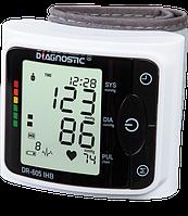 Тонометр автоматический на запястье Diagnostic DR-605 IHB  с индикатор аритмии, память на 120 измерений,Польша