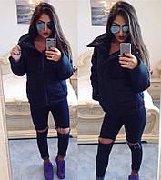 Черная дутая куртка