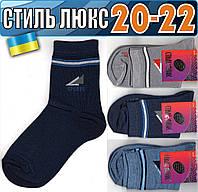Детские носки демисезонные СТИЛЬ ЛЮКС Украина 20-22р   ассорти    НДД-307