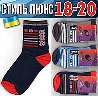 Детские носки демисезонные СТИЛЬ ЛЮКС Украина 18-20р  ассорти    НДД-309