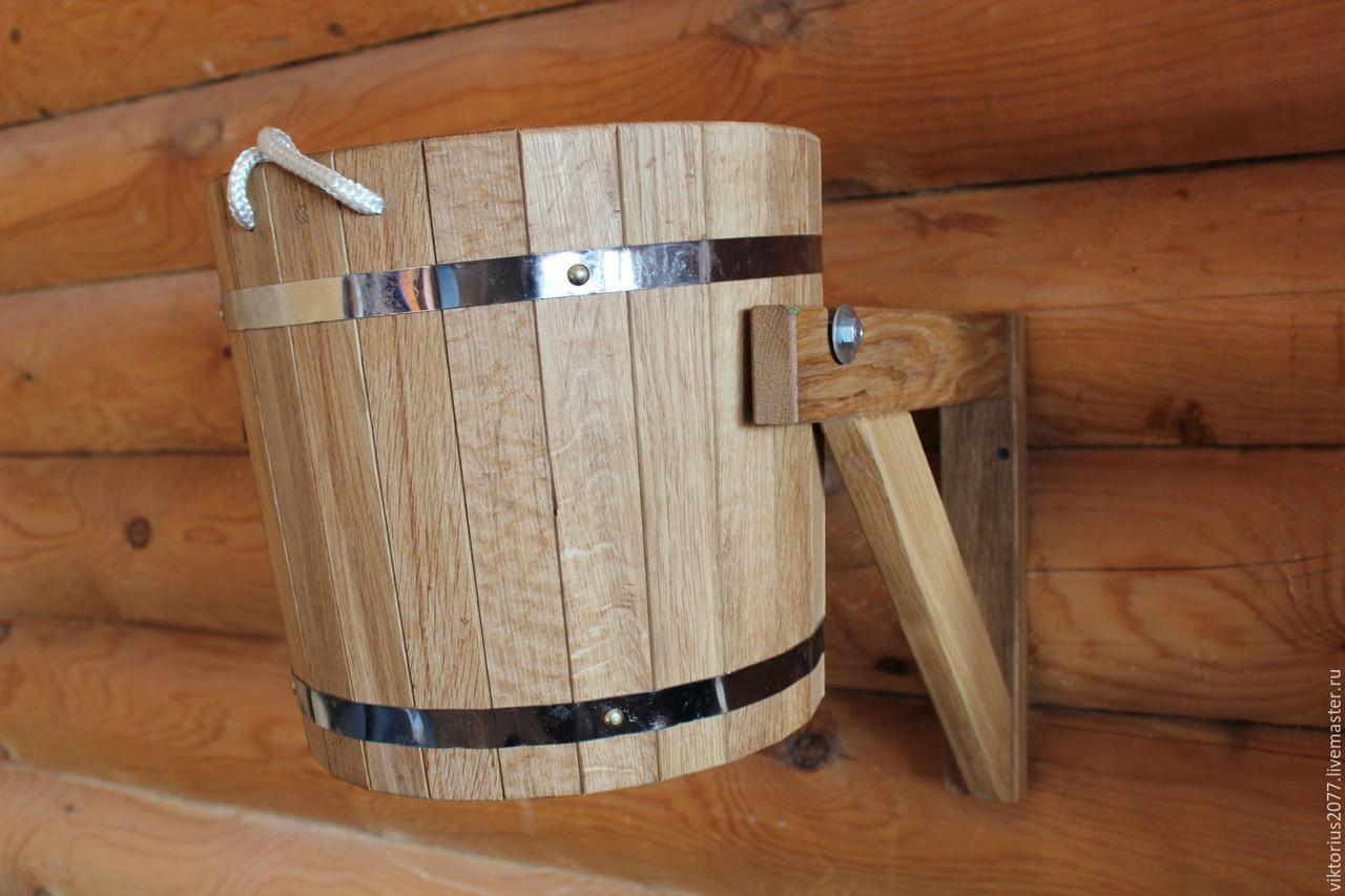 Ведро дубовое для бани