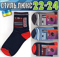 Детские носки демисезонные СТИЛЬ ЛЮКС Украина 22-24р   ассорти    НДД-311
