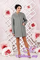 Элегантное женское демисезонное пальто цвета оливка батал (р. 44-62) арт. 997 Тон 76