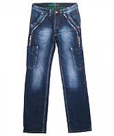 Джинсы мужские Levrictor накладные карманы (молодёжка), фото 1