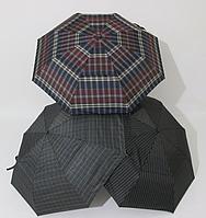 Мужской зонт полуавтомат клетка с клапаном Star Rain 8 спиц
