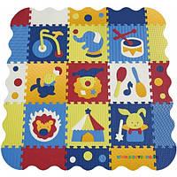 Игровой коврик-пазл «Удивительный цирк» с бортиком BabyGreat GB-M129СЕ