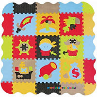 Игровой коврик-пазл «Приключения пиратов» с бортиками BabyGreat GB-M1503E