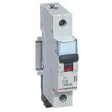 Автоматичний вимикач Legrand TX3 -1P 6А, З