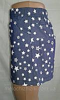 Детская юбка под джинс трикотаж с рисунком