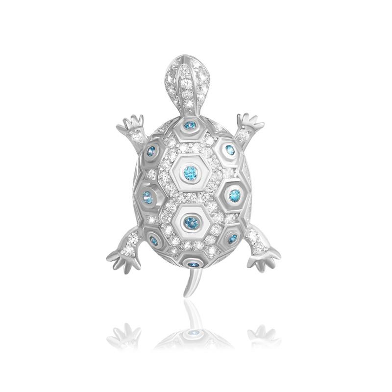 """Серебряная подвеска черепашка """"320"""""""