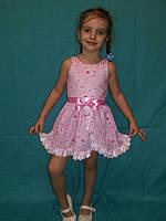 Детское летнее платье розовое