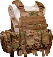 Жилет тактический TAR Tactical Vest Multicam NIJ IV (ДСТУ 4 класс) 7,62х54R пуля Б-32 4 пластины: передняя из задняя 255х305 мм