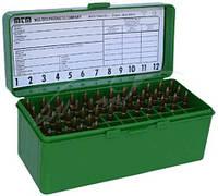Коробка MTM RM-60 на 60 патронов кал. 222-250 Rem, 243 Win, 7,62x39 и 308 Win. Цвет – зеленый.