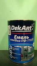 """Эмаль алкидная ПФ-115 белая глянцевая 0,9 кг ТМ """"DekArt"""""""