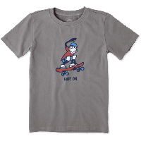 Детская футболка для мальчиков Life Is Good Boys Skate Board Tee