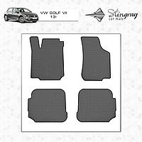 Коврики резиновые в салон Volkswagen Golf VII c 2013 (4шт) Stingray