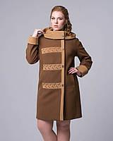 Пальто женское двухцветный свингер , фото 1