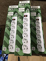Сетевой фильтр Defender DFS 151 1,8 м, белый, 6 розеток
