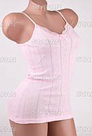 Изысканная женская майка Турция Hunex BD6570 Pink 42-44