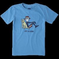 Детская футболка для мальчиков Life Is Good Boys Lean On Me Tee