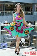 Платье летнее с яркой расцветкой