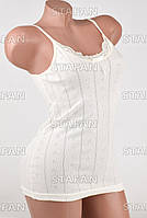 Изысканная женская майка Турция Hunex BD6570 Milky 42-44