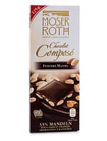 Черный шоколад Moser Roth Chocolat Compose Mandeln с миндалем, 125 гр., фото 1