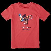 Детская футболка для мальчиков Life Is Good Boys Mountain Bike Tee