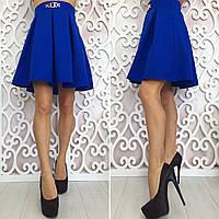 Женская юбка клеш габардин