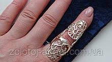 Серебряное кольцо с золотой пластинкой со сгибом