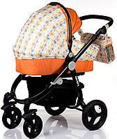 Детская Универсальная коляск 2 в 1 Babyhit Valente White Orange - прогулочный блок + люлька - Трансформер