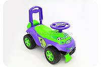 Каталка толокар «Автошка» немузыкальная (зелено-фиолетовая), фото 1